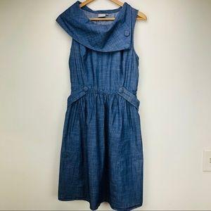 EShakti Cowl Neck Chambray Dress w/ Pockets XL EUC